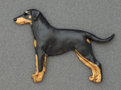 Dobermann - Brooche Figure