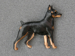 Miniature Pinscher - Brooche Figure