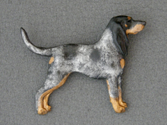 Bluetick Coonhound - Brooche Figure