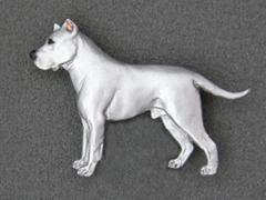 Dogo Argentino - Brooche Figure