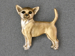 Chihuahua Smooth - Brooche Figure