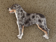 Louisiana Catahoula - Brooche Figure