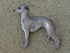 Italian Greyhound - Brooche Figure