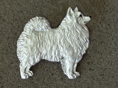 Japanese Spitz - Brooche Figure