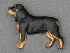Rottweiler - Brooche Figure