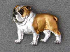 English Bulldog - Brooche Figure