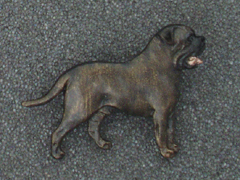 Bullmastiff - Brooche Figure