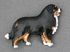 Bernese Mountain Dog - Brooche Figure