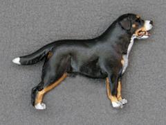 Large Swiss Mountain Dog - Brooche Figure