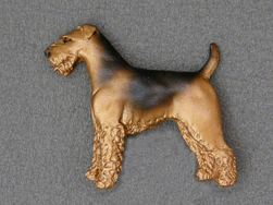 Airedale Terrier - Brooche Figure