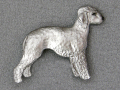 Bedlington Terrier - Brooche Figure