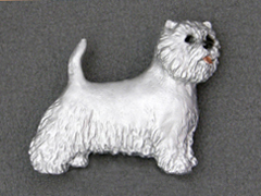 West Highland White Terrier - Brooche Figure