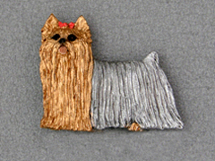 Yorkshire Terrier - Brooche Figure