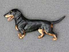Dachshund Smooth - Brooche Figure