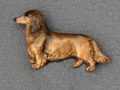 Dachshund longhaired - Brooche Figure