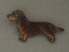 Dachshund Wire - Brooche Figure