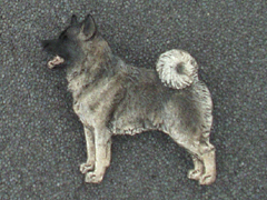 Norwegian Elkhound - Brooche Figure
