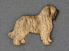 Briard - Brooche Figure