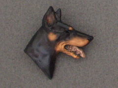 Dobermann - Brooche Small Head