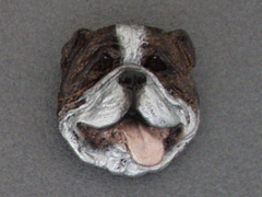 English Bulldog - Brooche Small Head
