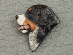 Bernese Mountain Dog - Brooche Small Head