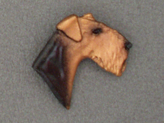 Airedale Terrier - Brooche Small Head