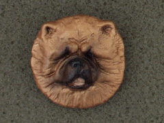 Chow-chow - Brooche Small Head