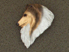 Collie Rough - Brooche Small Head