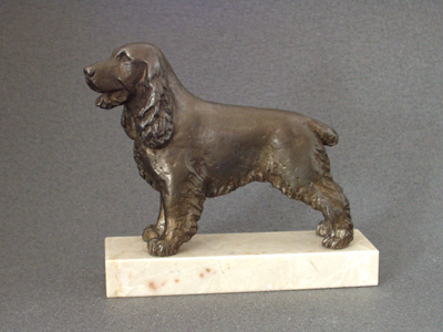 English Cocker Spaniel - Classic Figure on Marble Base