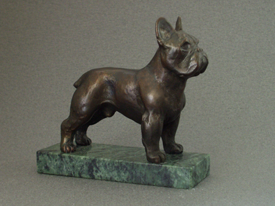 French Bulldog - Classic Figure on Marble Base