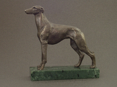 Greyhound Classic Figure On Marble Base Milan Orm Dog