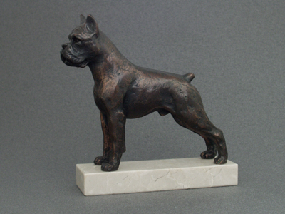 Boxer - Classic Figure on Marble Base