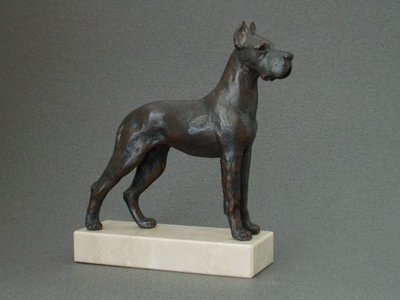 Great Dane - Classic Figure on Marble Base