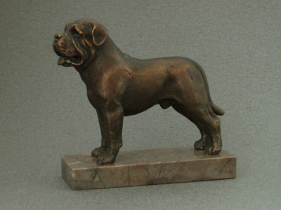 Mastiff - Classic Figure on Marble Base