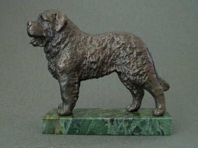 St. Bernard - Classic Figure on Marble Base