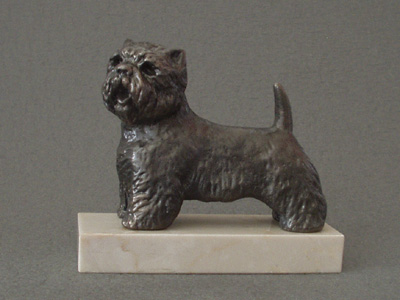 West Highland White Terrier - Classic Figure on Marble Base