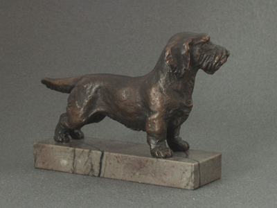 Dachshund Wire - Classic Figure on Marble Base