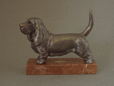 Basset Hound - Classic Figure on Marble Base