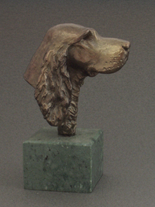 Gordon Setter - Classic Head On Marble Base