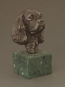 Cavalier King Charles Spaniel - Classic Head On Marble Base