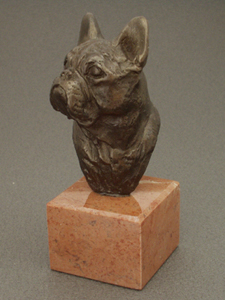 French Bulldog - Classic Head On Marble Base