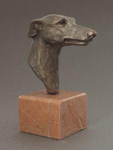 Whippet - Classic Head On Marble Base