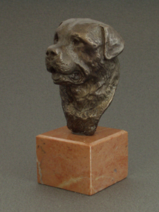 Rottweiler - Classic Head On Marble Base