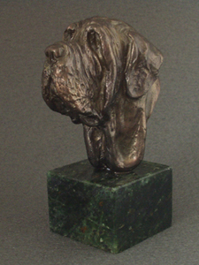 Mastino Napoletano - Classic Head On Marble Base