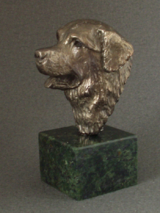 Bernese Mountain Dog - Classic Head On Marble Base