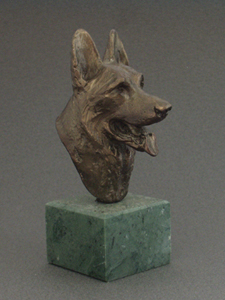 German Shepherd - Classic Head On Marble Base