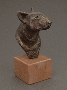 Bullterrier - Classic Head On Marble Base