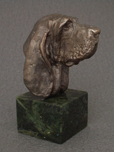 Basset Hound - Classic Head On Marble Base