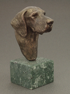 German Shorthaired Pointer - Classic Head On Marble Base