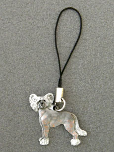 Chinese Crested Dog - Cell Phone Charm